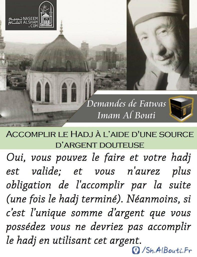 [Fatwa] Accomplir le hajj avec de l'argent douteux