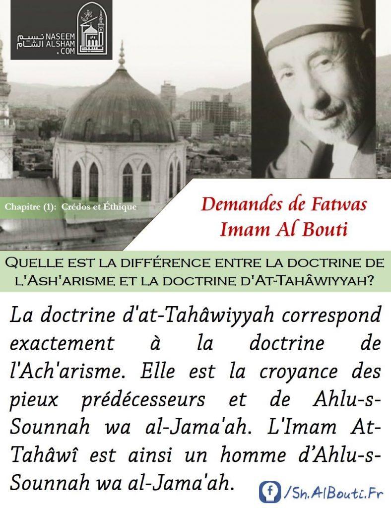 [Fatwa] Suivre les doctrines de l'Ach'arisme et d'at-Tahâwiyyah